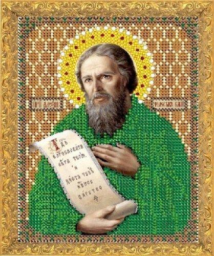 """Рисунок на ткани для вышивания бисером 784М """"Святой Алексей Человек Божий"""""""