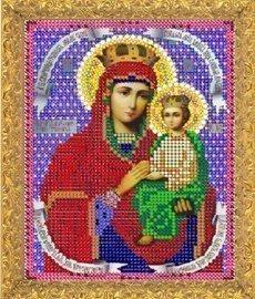 """Рисунок на ткани для вышивания бисером 408М """"Прсв. Богородица Споручница Грешных"""""""