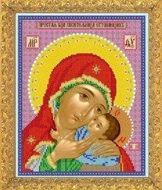 """Рисунок на ткани для вышивания бисером 372М """"Прс Богородица Спасительница Утопающих"""""""