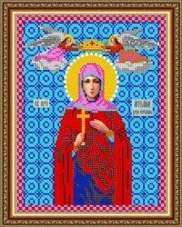 """Рисунок на ткани для вышивания бисером Бис 744 """"Св. Ангелина"""""""