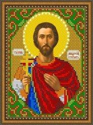 Pисунок на ткани для вышивания бисером 837М «Св. Андрей Стратилат»