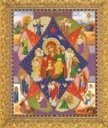 """Рисунок на ткани для вышивания бисером Бис 322 """"Прсв. Богородица Неопалимая Купина"""""""