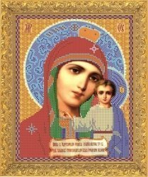 """Рисунок на ткани для вышивания бисером Бис 332 """"Прсв. Богородица"""""""