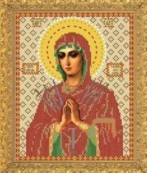 """Рисунок на ткани для вышивания бисером Бис 343 """"Прсв. Богородица Смягчение злых сердец"""""""