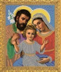 """Рисунок на ткани для вышивания бисером Бис 352 """"Святое Семейство"""""""