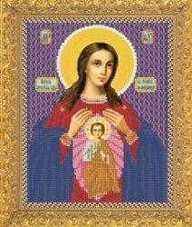 """Рисунок на ткани для вышивания бисером Бис 366 """"Прсв. Богородица Помощница в родах"""""""