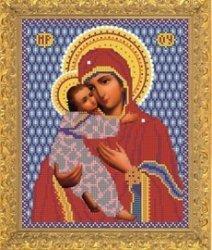 """Рисунок на ткани для вышивания бисером Бис 373 """"Прсв. Богородица Владимирская"""""""