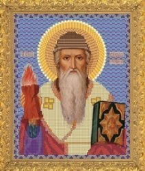 """Рисунок на ткани для вышивания бисером Бис 423 """"Святой Спиридон"""""""