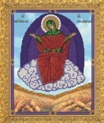 """Рисунок на ткани для вышивания бисером Бис 424 """"Прсв.Богородица Спарительница хлеба"""""""