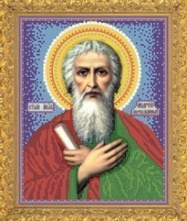 """Рисунок на ткани для вышивания бисером Бис 753 """"Святой Андрей Первозванный"""""""