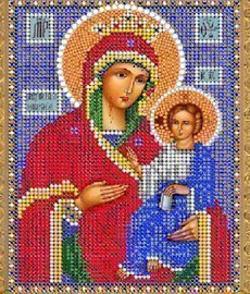 """Рисунок на ткани для вышивания бисером 317М """"Прсв.Богородица Иверская"""""""