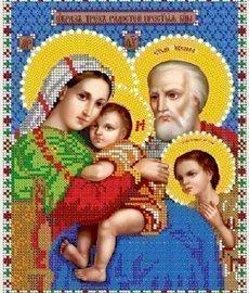 """Рисунок на ткани для вышивания бисером Бис 434 """"Образ трех радостей Прсв. Богородицы"""""""