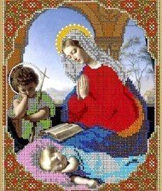"""Рисунок на ткани для вышивания бисером Бис 438 """"Дева Мария молится"""""""
