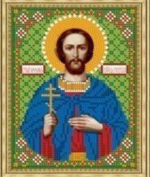 Рисунок на ткани для вышивания бисером Бис 819 «Св.Леонид»