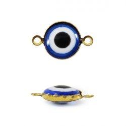 Бусины-Глазки от сглаза 10 мм, 2-стор., с петелькой