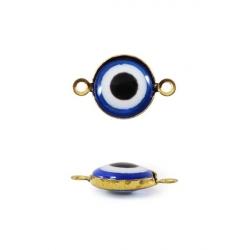 Бусины-Глазки от сглаза 6 мм, 2-стор., с петелькой