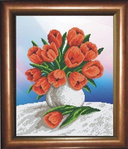 """Набор для вышивания бисером БВБ-886 """"Тюльпаны"""""""