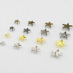 Заклёпки декоративные (звезда) 1,2 см 1/500 шт