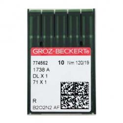 Иглы GROZE-BECKERT DBx1 №120/19 для промышленных швейных машин (прямострочка)