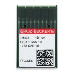 Иглы GROZE-BECKERT DBx1 SAN10 для промышленных швейных машин (трикотаж)