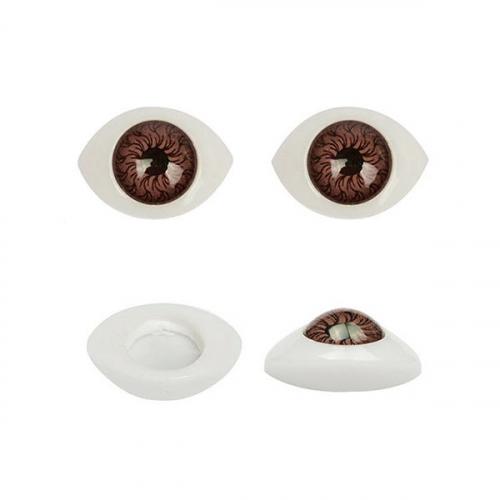 Глазки для кукол №8 15х11 мм 1/100 шт