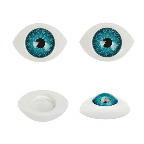 Глазки для кукол №10 19х13 мм 1/100 шт