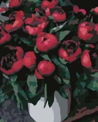 Рисование по номерам (на холсте) 40х50 0370HS Красные пионы