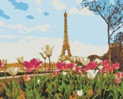 Рисование по номерам (на холсте) 40х50 0388HS Тюльпаны в Париже