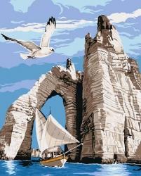 Рисование по номерам (на холсте) 40х50 0452HS Морская прогулка