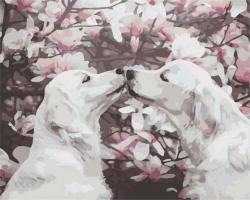 Рисование по номерам (на холсте) 40х50 1109HS Собачки весной