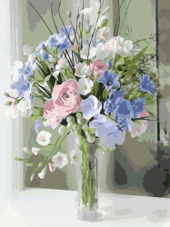 Рисование по номерам (на холсте) 30х40 2031HS Весенний букет цветов