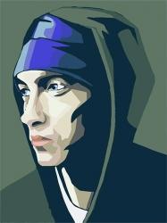 Рисование по номерам (на холсте) 40х50 1122HS Eminem