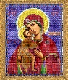 """Рисунок на ткани для вышивания бисером 403М """"Прсв. Богородица Феодоровская"""""""