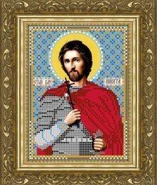"""Рисунок на ткани для вышивания бисером 700М """"Святой Великомученик Никита"""""""