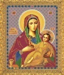 """Рисунок на ткани для вышивания бисером Бис 388 """"Прсв. Богородица Козельщанская"""""""