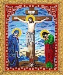 """Рисунок на ткани для вышивания бисером Бис 432 """"Распятие Иисуса Христа"""""""