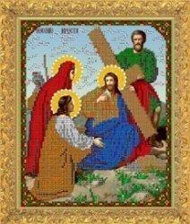 """Рисунок на ткани для вышивания бисером Бис 439 """"Несение креста"""""""