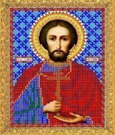 """Рисунок на ткани для вышивания бисером 755М """"Святой Евгений"""""""