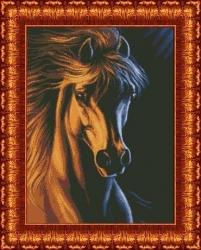 Канва для бисера КБ-2005 Лошадь