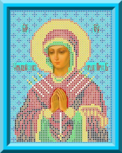 Канва для бисера КБИ-4018 Икона Б.М. Умягчение Злых Сердец 18х23 см