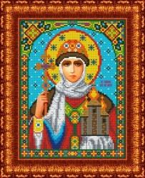 Канва для бисера КБИ-4036 Св. Княгиня Ольга 18х23 см