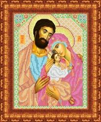 Канва для бисера КБИ-4042 Святое семейство 18х23 см