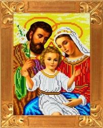 Канва для бисера КБИ-4055(ж) Святое семейство 18х23 см