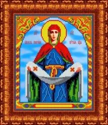 Канва для бисера КБИ-4074 Покров Пресвятой Богородицы 18х23 см