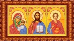 Канва для бисера КБИ-4103/2 Триптих (БМ Казанская, Спаситель, Пантелеймон) 18х23 см