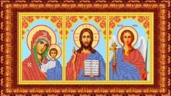 Канва для бисера КБИ-4103/3 Триптих (БМ Казанская, Спаситель, Ангел) 18х23 см