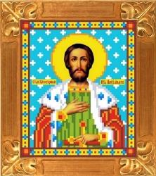 Канва для бисера КБИ-5037 Св. Князь Александр 13х18 см