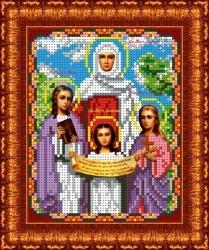 Канва для бисера КБИ-5041 Вера, Надежда, Любовь 13х18 см