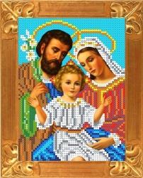 Канва для бисера КБИ-5055 Святое семейство 13х18 см