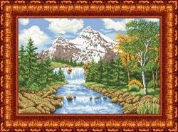 Канва для бисера КБП-2001 Речка в лесу